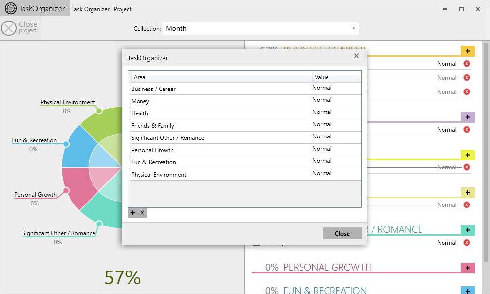 Task Organizer - Areas