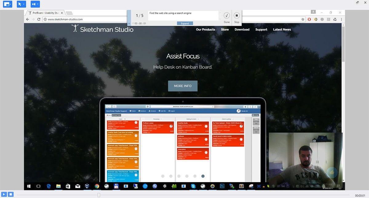 Usability Studio - Fullscreen preview