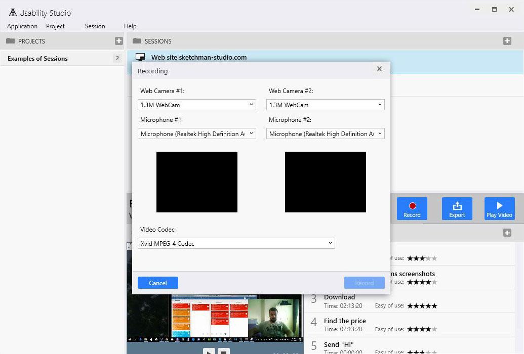 Usability Studio - Web cameras